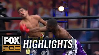 Travon Lawson stuns Angel Barrientes with vicious fourth-round knockout | HIGHLIGHTS | PBC ON FOX