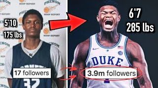 From NOBODY to NBA STAR? The Story of Zion Williamson