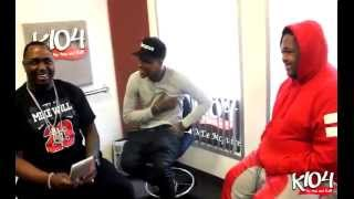YG and DJ Mustard in Studio @ K104 with Bay Bay