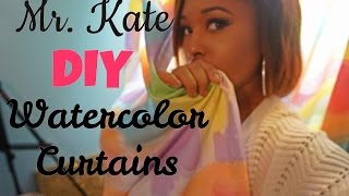 Mr. Kate DIY Watercolor Curtains