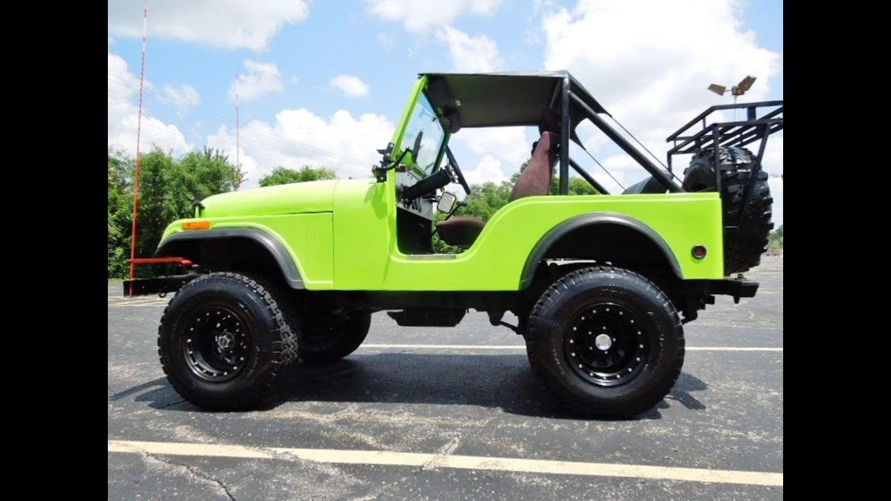 Lifted Jeep Renegade >> 1978 Jeep CJ5 Lifted Fiberglass Body Off Road Ready V8 - YouTube