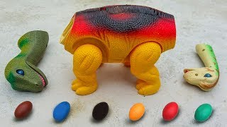 Dinosaur Walking and Laying Eggs Toys Learn Colors & Numbers for Children #2 - G238A