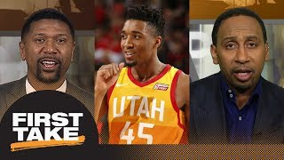 Stephen A. Smith and Jalen Rose pick Donovan Mitchell for Rookie of the Year   First Take   ESPN