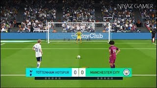 TOTTENHAM vs MANCHESTER CITY | Penalty Shootout | PES 2018 Gameplay PC