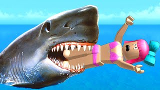 Roblox: SURVIVE THE SHARK ATTACK!!!