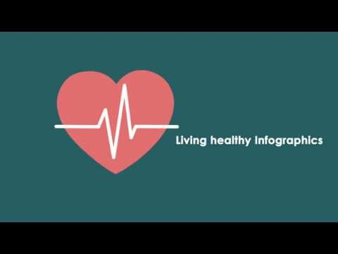 Living Healthy Infographic Template