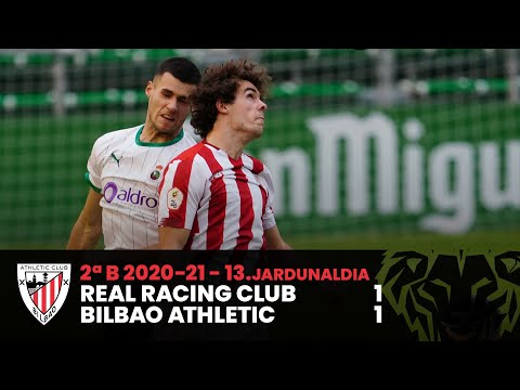 ⚽ Resumen I J13 2ªDiv B I Real Racing Club 1-1 Bilbao Athletic I Laburpena