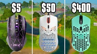 $5 Mouse vs $400 Mouse On Fortnite! - Cheap vs Expensive Gaming Mice
