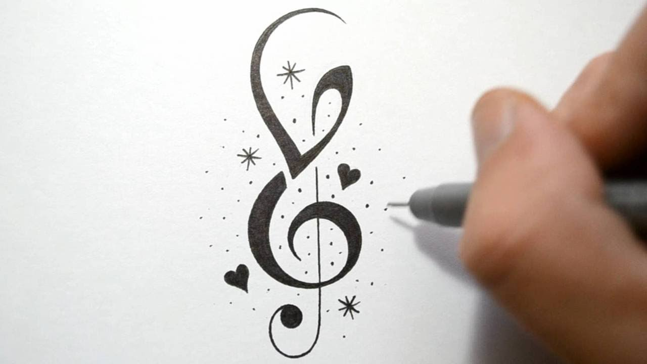 150 Meaningful Treble Clef Tattoo Designs for Music