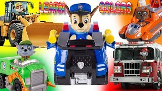 Pups of Paw Patrol in Chasing Colors - Learn Colors