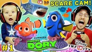 FINDING DORY Shark Scare Cam!  Disney Infinity 3.0 Movie Playset Part 1 w/ Gummies (FGTEEV Gameplay)