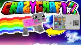 NYAN PIG LAUNCHER | Minecraft CRAZY CRAFT 3.0 #41