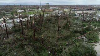 Raw video of Hurricane Michael damage in Panama City, Florida