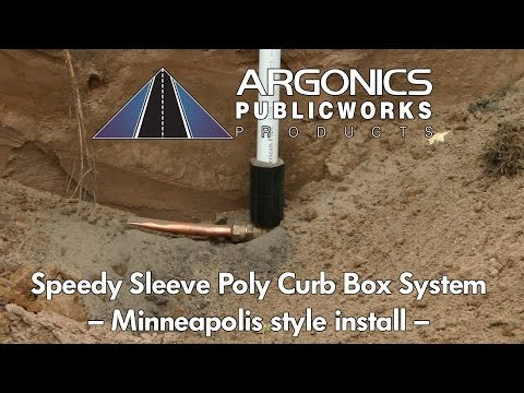 Speedy Sleeve Poly Curb Box System - install video