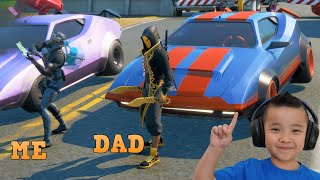 RACING With My DAD in FORTNITE CKN Gaming