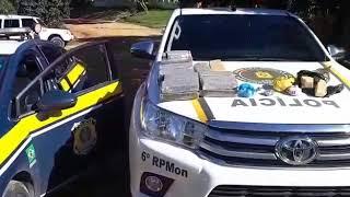 PRF, BM e PC prendem traficantes e apreendem mais de 36 kg de drogas na BR 293 em Bagé
