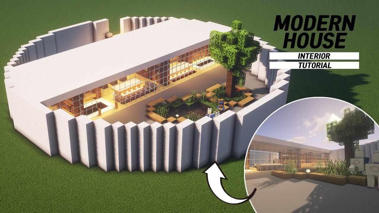 Minecraft Modern House Interior Tutorial How To Build In Minecraft 65