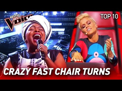 TOP 10 | Insanely QUICK Chair Turns in The Voice