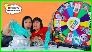 MYSTERY WHEEL OF SLIME CHALLENGE and SPIN WHEEL POP QUIZ