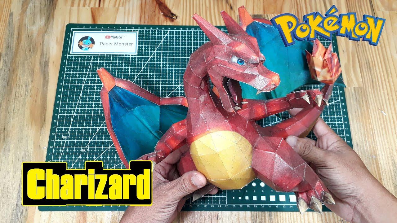 Paperpokés - Pokémon Papercraft: CHARIZARD CHIBI | 720x1280