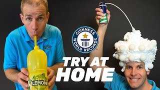 HOW TO BREAK RECORDS AT HOME - Guinness World Records