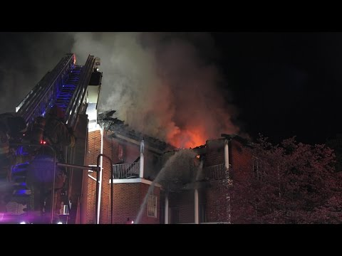 3 alarm fire at a funeral home  04/20/17