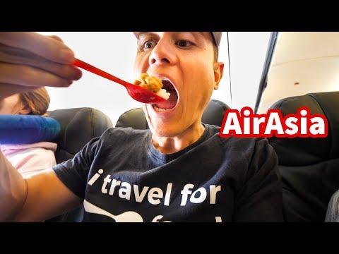 AirAsia FOOD REVIEW - Flying From Bangkok to Denpasar, Bali!