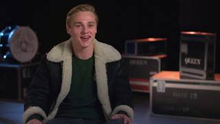 "BOHEMIAN RHAPSODY ""Roger Taylor"" Ben Hardy Behind The Scenes Interview"