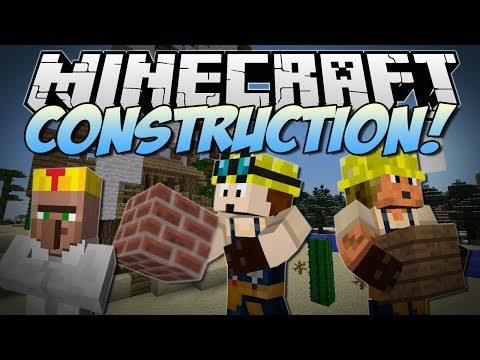 Minecraft   CONSTRUCTION! (Turn Blueprints Into EPIC Kingdoms!)   Mod Showcase - Smashpipe Games