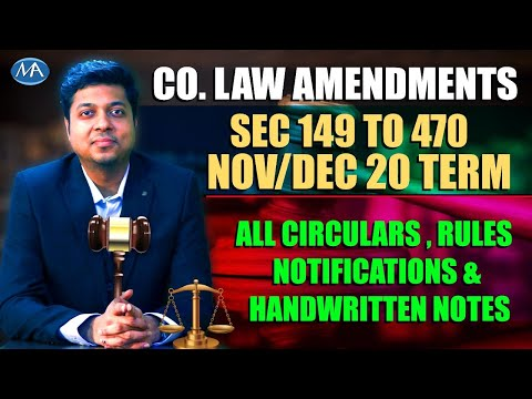 video Corporate and Economic Laws By CA Mohit Agarwal CA Final Regular
