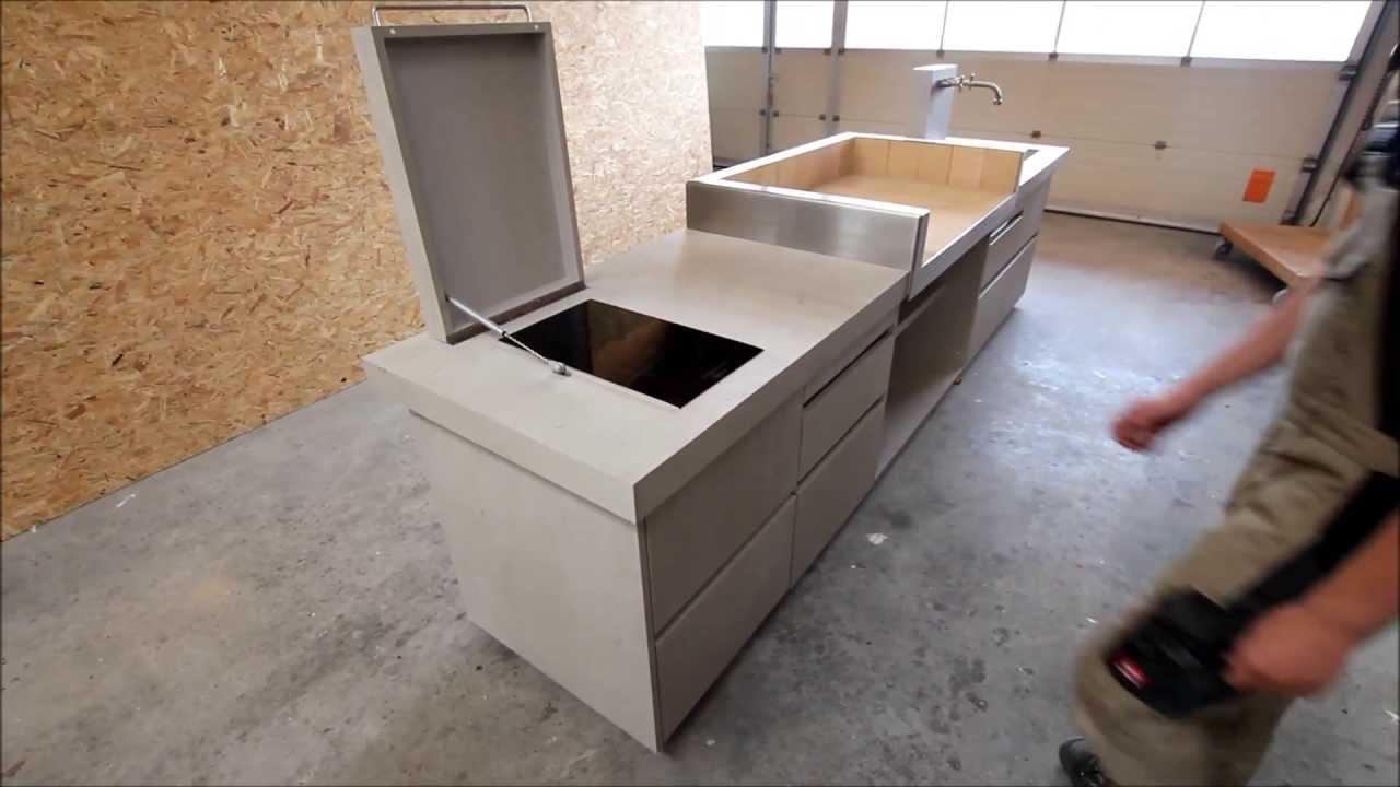 outdoor k che in betonoptik von youtube. Black Bedroom Furniture Sets. Home Design Ideas
