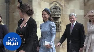 Pippa Middleton arrives for the wedding of Lady Gabriella Windsor