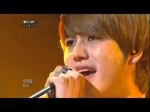 [HIT]불후의명곡2(Immortal Songs 2)-규현(Super Juinor) 가장무도회(7대전설 김완선편 최종우승)20110827 KBS