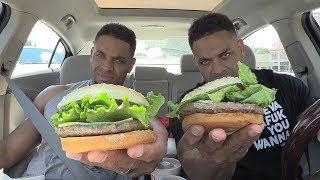 Eating McDonald's New Signature Crafted Hamburgers @Hodgetwins