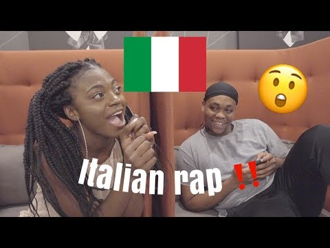 REACTION TO ITALIAN RAP/TRAP MUSIC !!