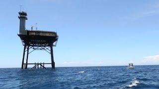 34-miles offshore, ocean hotel offers solitude