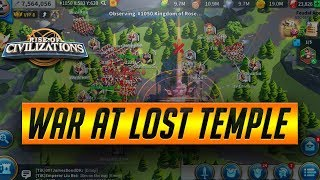Massive Rival War at Lost Temple | Rise of Civilizations