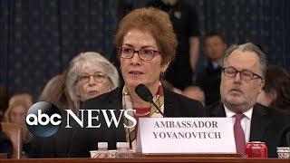 La embajadora Yovanovitch se declara preocupada por el mensaje que Trump está enviando a los representantes de EEUU en Ucrania