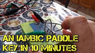 10 minute Iambic Morse Code Paddle Key - CW