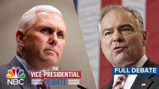 The Vice-Presidential Debate: Tim Kaine And Mike Pence (Full Debate) | NBC News