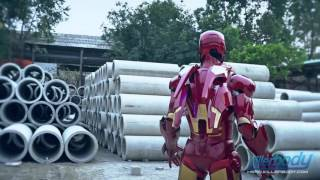 Killerbody Hero Iron Man Armour-Mark VII Laser Effect Display