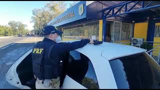 PRF apreende fuzil e prende casal de criminosos na BR-386, em Montenegro