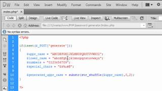 PHP: Simple password generator