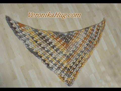 Häkeln Schal Tuch Drachenschal Drachenschwanz Veronika Hug