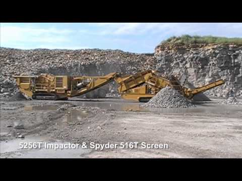 5256T Impact Crusher Compilation