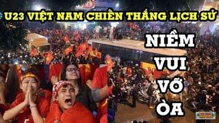 Cảm xúc vỡ òa của hàng triệu dân Việ Nam sau khi trận đấu giữa U23 Việt Nam và U23 Iraq kết thúc