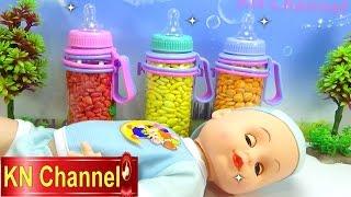 Đồ chơi trẻ em Bé Na bất ngờ bình sữa búp bê Baby doll Candy Surprise hide and seek Childrens toys