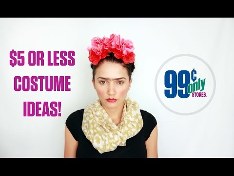 With just a handful of items from the 99 Cents Only Store, you can create your own one-of-a-kind costume without breaking the bank. Here are a few costume ideas that cost $5 or less from the 99 Cents Only Store.