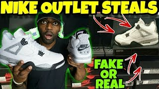 I Found Fake Jorans At The Nike Outlet!! Are They Fake or Real??