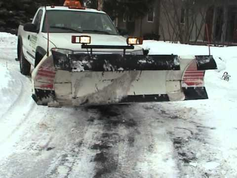 Blizzard 810 Power Plow In Action - YouTube